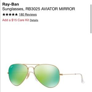 Authentic- Ray-Ban Sunglasses, RB3025 AVIATOR NWOT